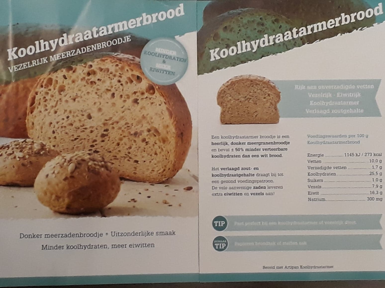 Koolhydraatarmer brood